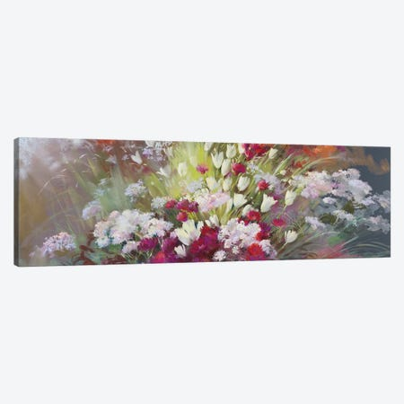 Garden Of Senses - Soft Touch 3-Piece Canvas #NWM101} by Nel Whatmore Art Print