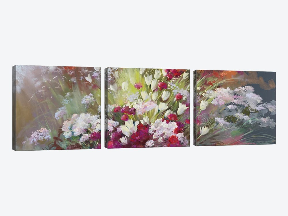 Garden Of Senses - Soft Touch by Nel Whatmore 3-piece Canvas Wall Art