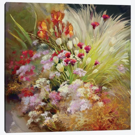 Garden Of The Senses 3-Piece Canvas #NWM102} by Nel Whatmore Art Print