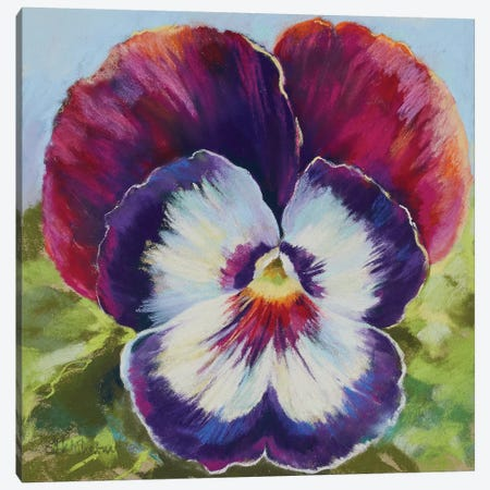 Pansy Smile Canvas Print #NWM109} by Nel Whatmore Canvas Art Print