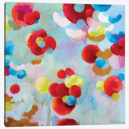 Pom Tiddley Pom 3-Piece Canvas #NWM111} by Nel Whatmore Canvas Wall Art