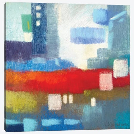Cityscape Skyscraper Canvas Print #NWM13} by Nel Whatmore Canvas Artwork
