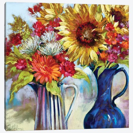 Happy Hour I Canvas Print #NWM27} by Nel Whatmore Canvas Wall Art