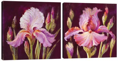 Her Arms Unfurled Diptych Canvas Art Print