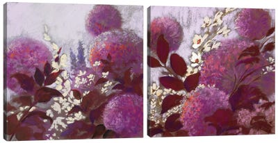 Pom-Poms Diptych Canvas Art Print
