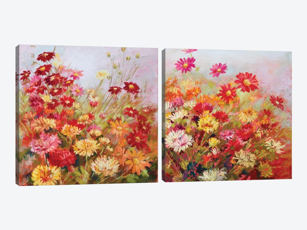 Rainbow All Day Diptych by Nel Whatmore 2-piece Canvas Art Print