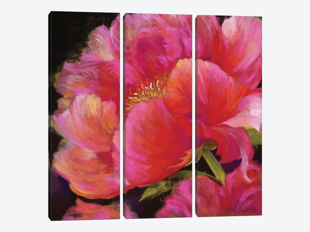 Hot Pink by Nel Whatmore 3-piece Canvas Art Print