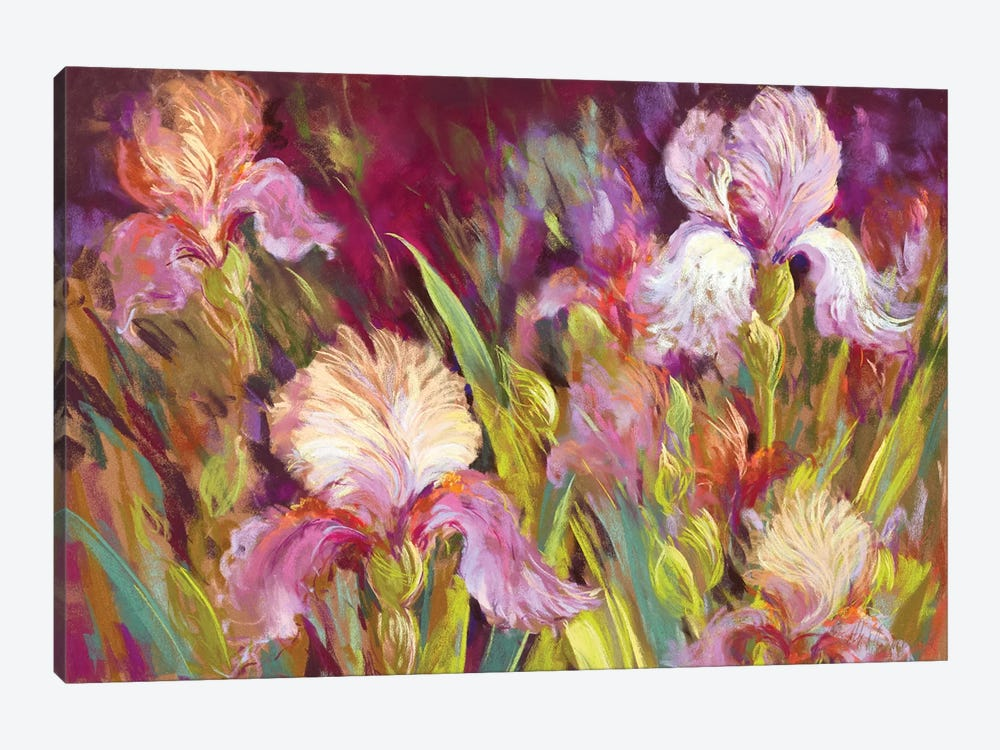 Irises All Day by Nel Whatmore 1-piece Art Print