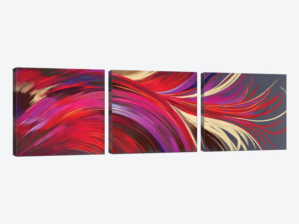 Riding The Wave Triptych by Nel Whatmore 3-piece Canvas Art Print