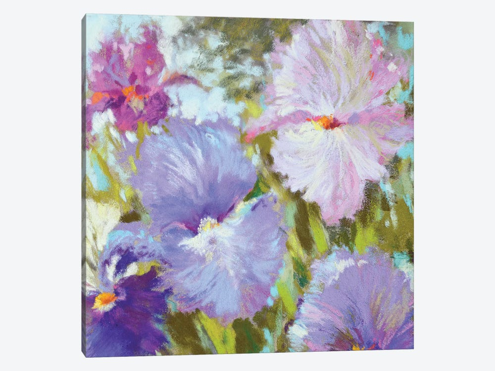 Little Irises by Nel Whatmore 1-piece Canvas Artwork
