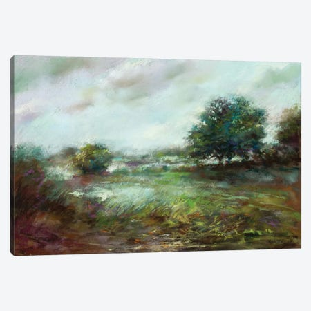 Aqua Dawn Canvas Print #NWM5} by Nel Whatmore Art Print