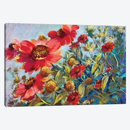 Rambling Riot 3-Piece Canvas #NWM68} by Nel Whatmore Canvas Art Print