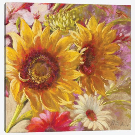 Summer Time Girls 3-Piece Canvas #NWM76} by Nel Whatmore Canvas Art Print