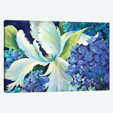 Swan Lake Canvas Print #NWM80} by Nel Whatmore Canvas Art Print