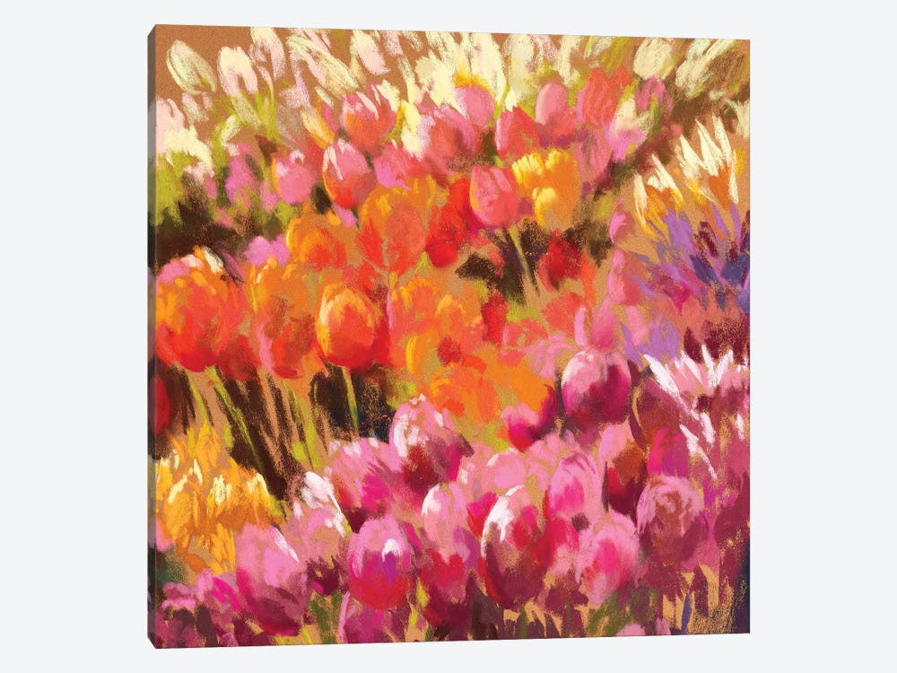 Tantalising Tulips by Nel Whatmore 1-piece Art Print