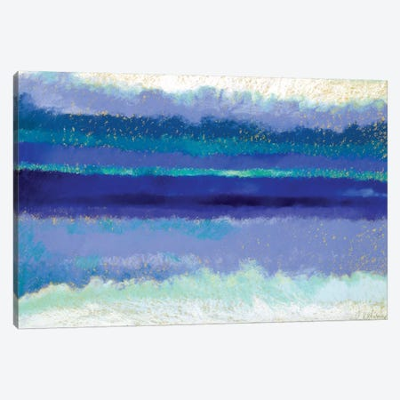 Waves Canvas Print #NWM88} by Nel Whatmore Canvas Print