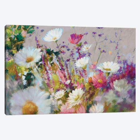 August Small Is Beautiful Taupe Canvas Print #NWM92} by Nel Whatmore Canvas Wall Art