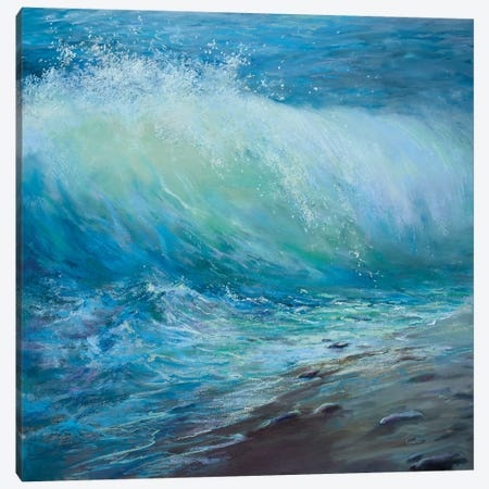 Emerald Wave Canvas Print #NWM95} by Nel Whatmore Canvas Art Print