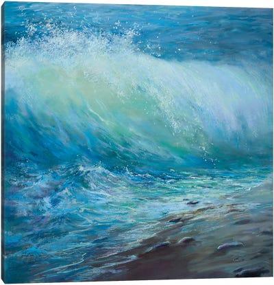 Emerald Wave Canvas Art Print