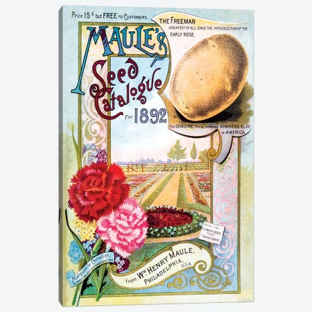 Maule's Seed Catalogue Cover Art, 1892 Canvas Print #NYB17} by New York Botanical Garden Art Print