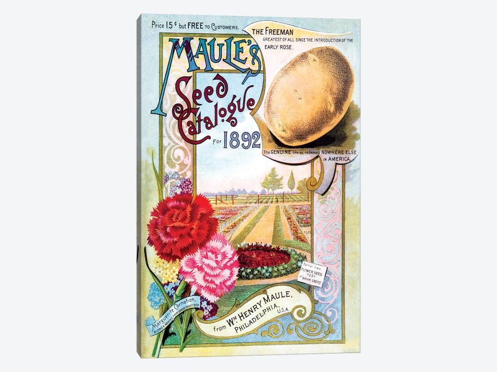 Maule's Seed Catalogue Cover Art, 1892 by New York Botanical Garden 1-piece Canvas Art Print