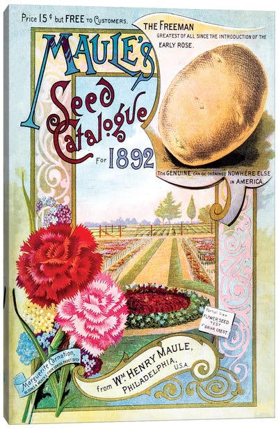 Maule's Seed Catalogue Cover Art, 1892 Canvas Art Print