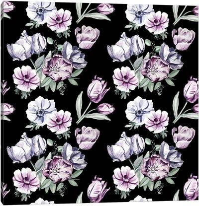 Moody Tulips Canvas Art Print