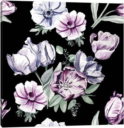 Moody Tulips, Close-Up Canvas Art Print