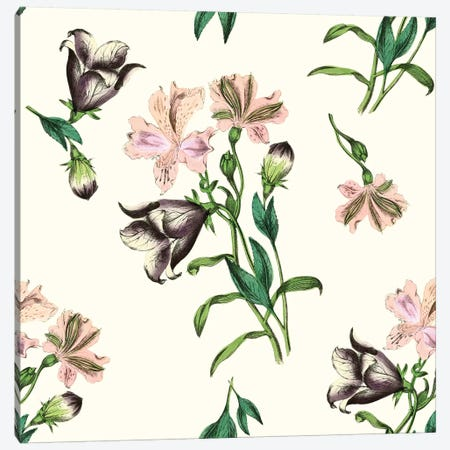 Pink Flowers On Light Background Canvas Print #NYB41} by New York Botanical Garden Portfolio Canvas Print