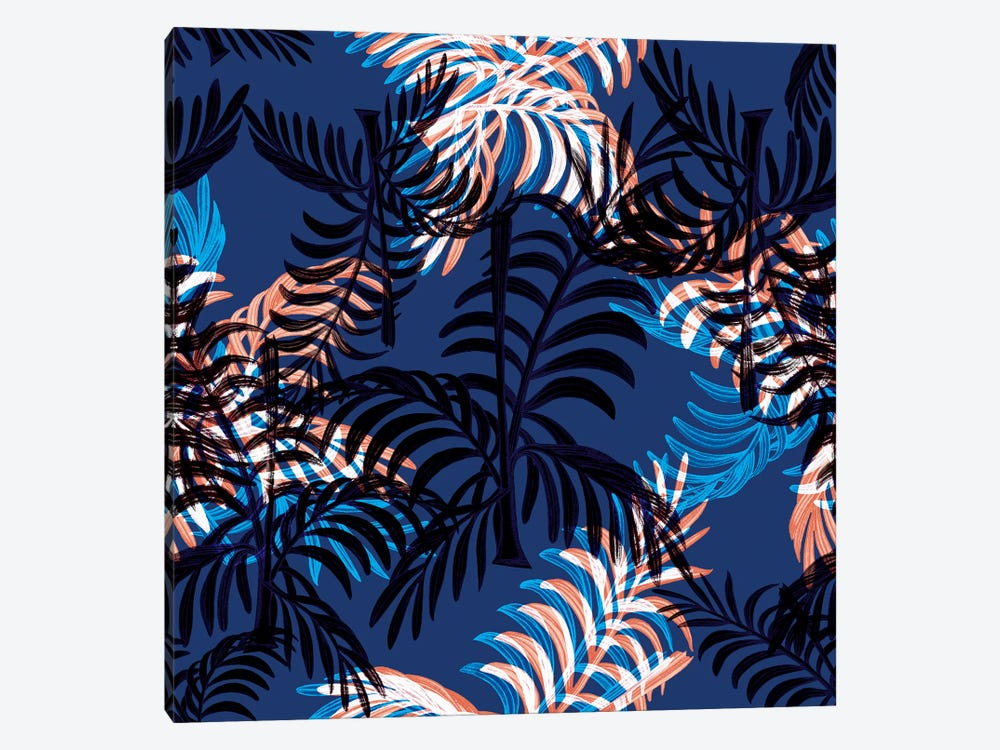 Blue Palms by New York Botanical Garden 1-piece Canvas Artwork