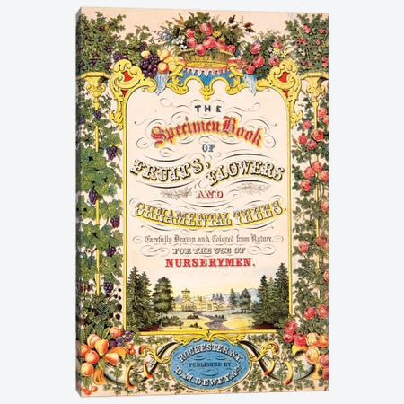 Cover Art, The Specimen Book Of Fruits, Flowers & Ornamental Trees Canvas Print #NYB7} by New York Botanical Garden Portfolio Canvas Wall Art