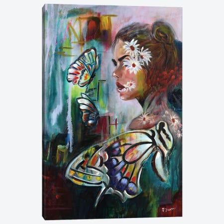 Flower Lovers Canvas Print #NYJ13} by Niyati Jiwani Canvas Art