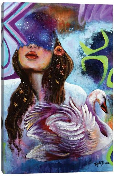 A Dazzling Star Canvas Art Print