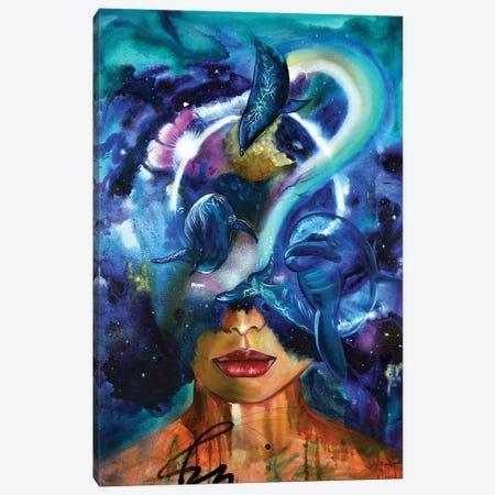 Cosmic Connection Canvas Print #NYJ7} by Niyati Jiwani Canvas Wall Art