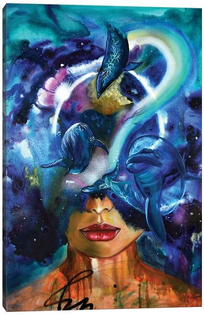 Cosmic Connection Canvas Art Print
