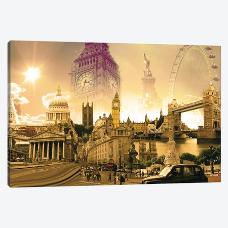 London Highlights Canvas Print #NYS1} by Nyss Canvas Art Print