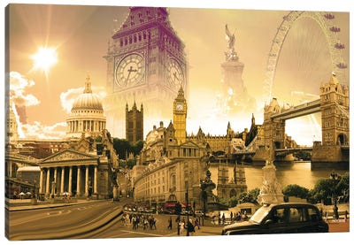 London Highlights Canvas Art Print