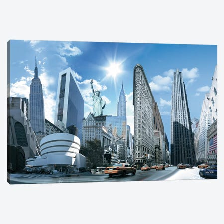 NY Highlights Canvas Print #NYS2} by Nyss Canvas Art Print