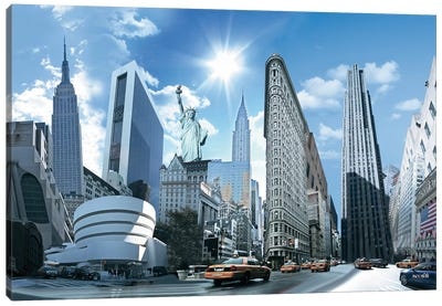 NY Highlights Canvas Art Print