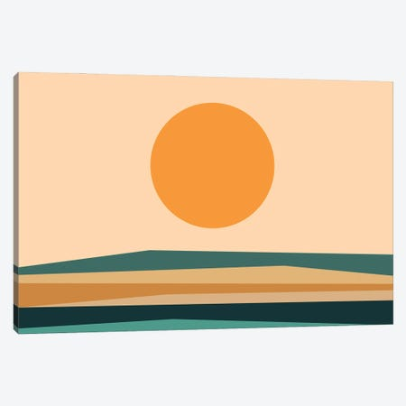 Abstract Landscape XB Canvas Print #OAS23} by The Old Art Studio Canvas Wall Art