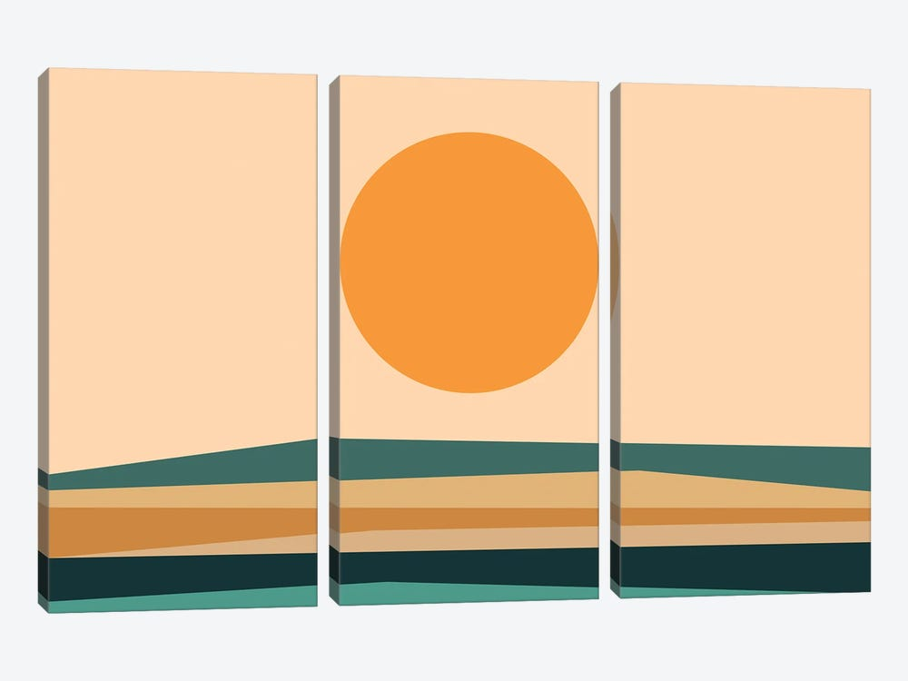 Abstract Landscape XB by The Old Art Studio 3-piece Canvas Art