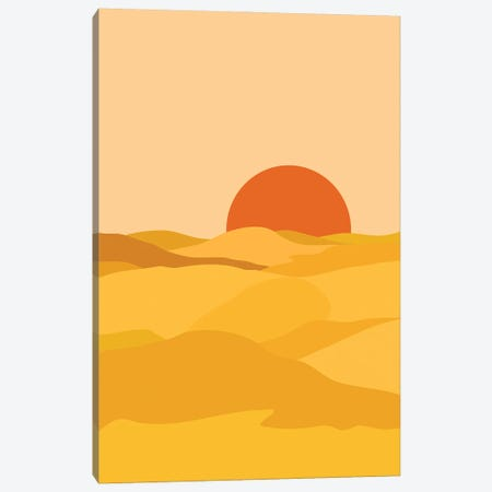 Desert Landscape Canvas Print #OAS43} by The Old Art Studio Canvas Art