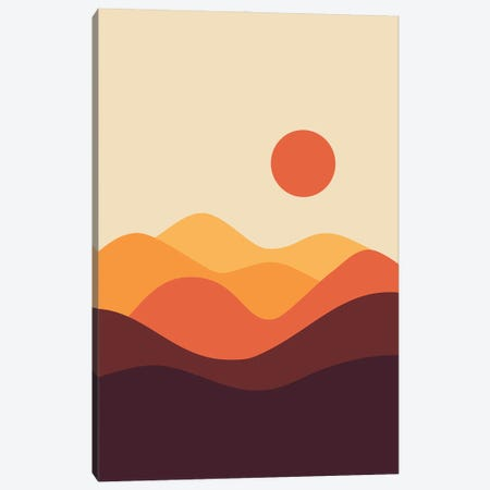 Geometric Landscape XXI Canvas Print #OAS57} by The Old Art Studio Canvas Art