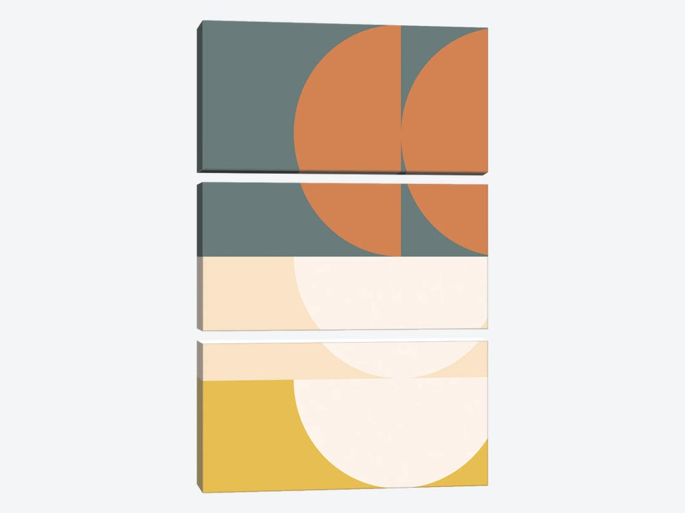 Abstract Geometric II by The Old Art Studio 3-piece Canvas Wall Art