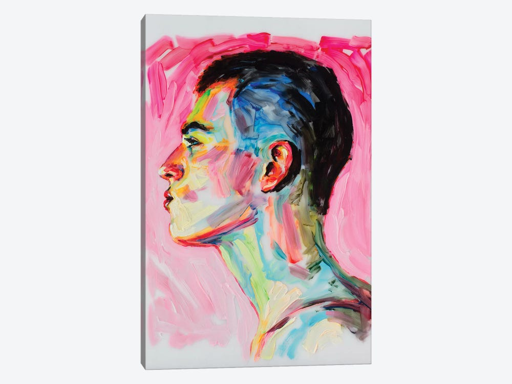The Profile On A Pink Background by Oleksandr Balbyshev 1-piece Canvas Wall Art