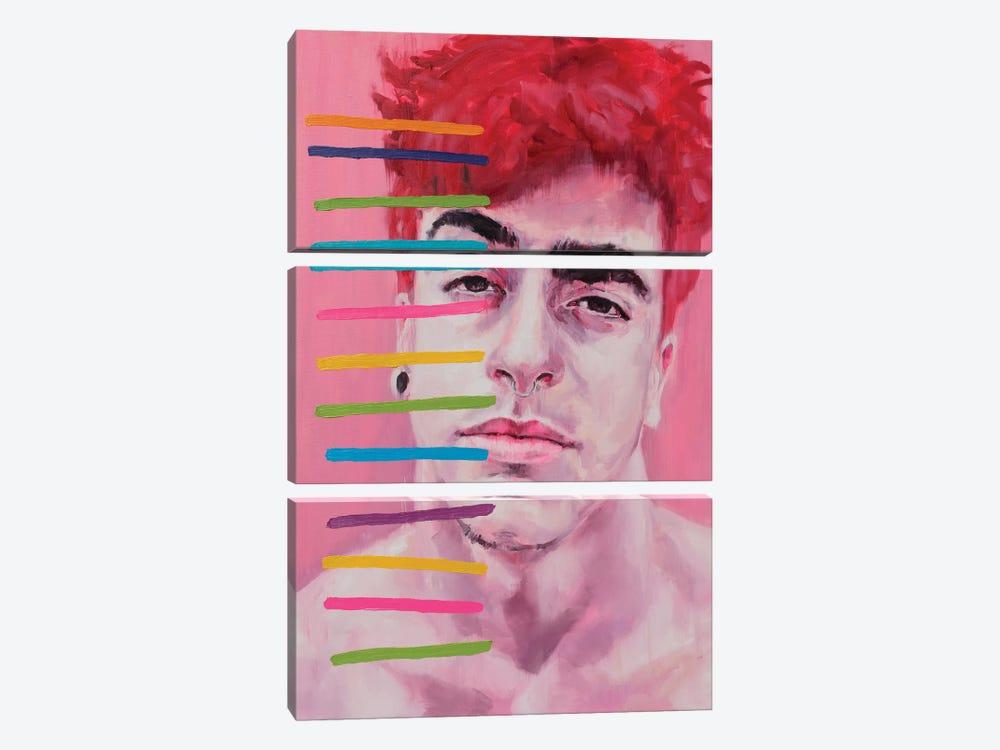 Tired Face by Oleksandr Balbyshev 3-piece Canvas Art Print