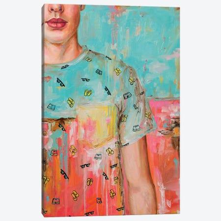 Yellow Pocket Canvas Print #OBA121} by Oleksandr Balbyshev Canvas Artwork