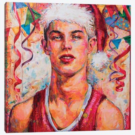 Young Santa Canvas Print #OBA122} by Oleksandr Balbyshev Canvas Art