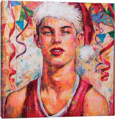 Young Santa Canvas Art Print