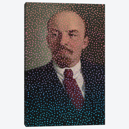 Polka Dot Lenin Canvas Print #OBA136} by Oleksandr Balbyshev Canvas Artwork